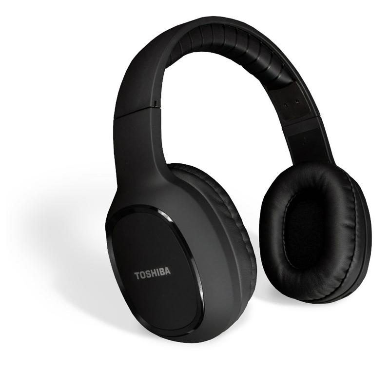 Toshiba RZE-BT160H cascos Bluetooth circumaurales con acabado en tacto goma negro